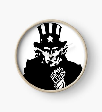 SAY IT LOUD: Uncle Sam Clock