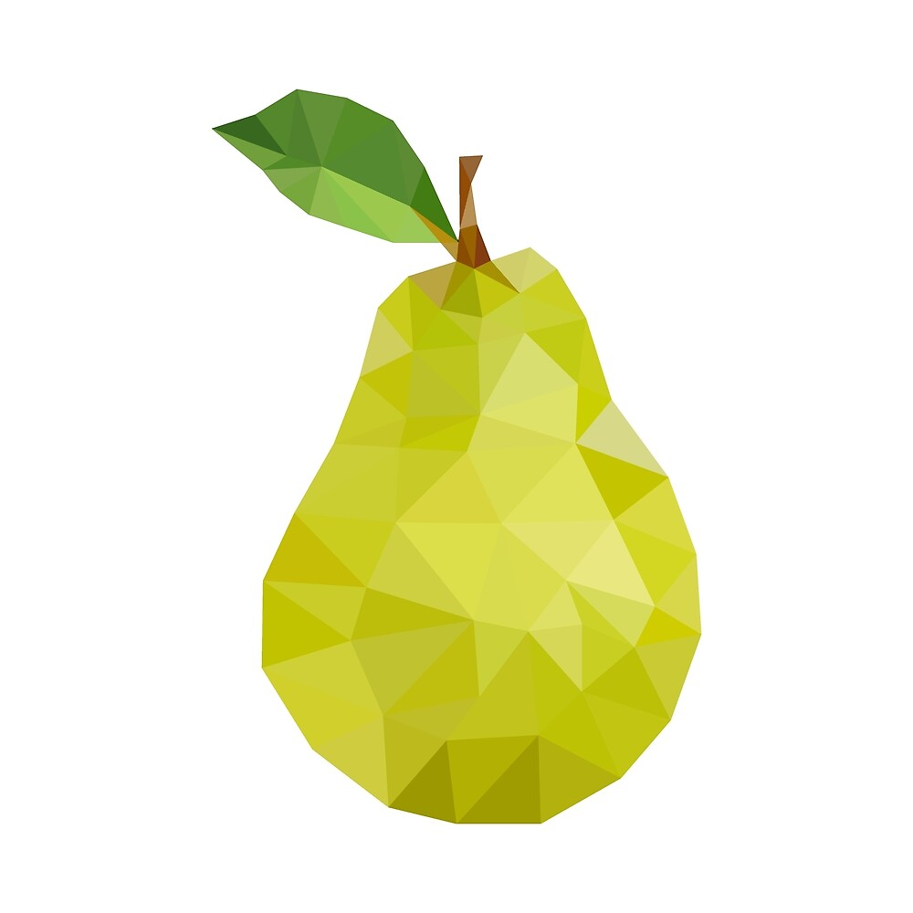 Triangular pear illustration  by KiraBalan