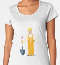 Worker illustartion  Women's Premium T-Shirt
