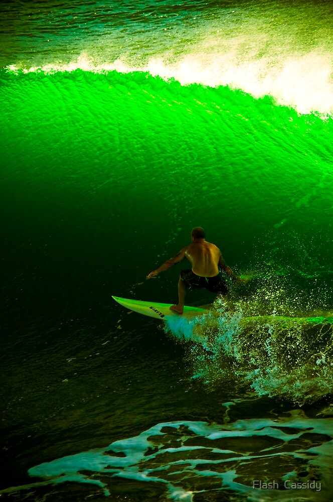 GreenWave in the BaRReLL of DarKNeSS by Flash  Cassidy
