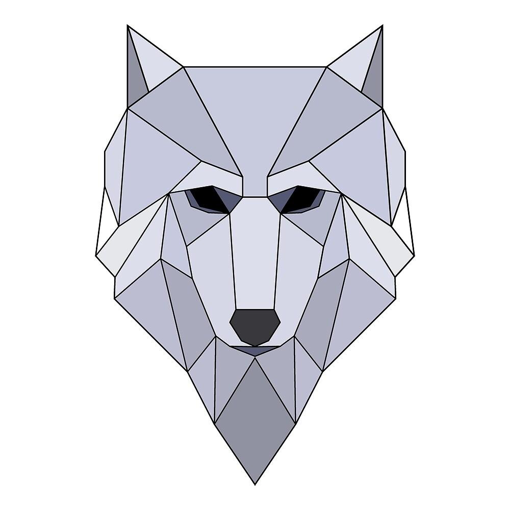 Triangular wolf illustration  by KiraBalan