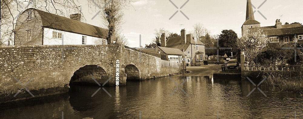 Bridge over the River Darent by Peter Green