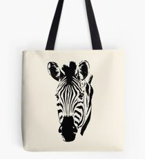 Zebra Close-up in Graphic Pen and Ink Style Tote Bag