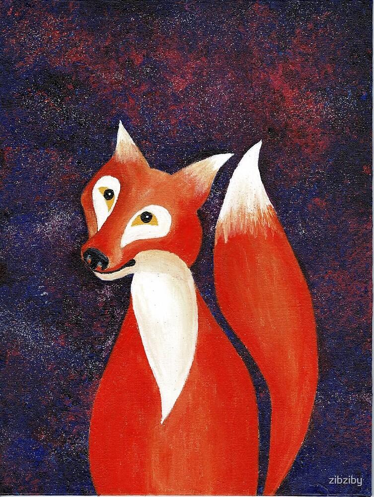 Starry Night Fox4 by zibziby