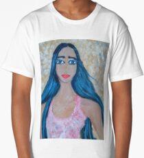 A Blue-haired Beauty Long T-Shirt