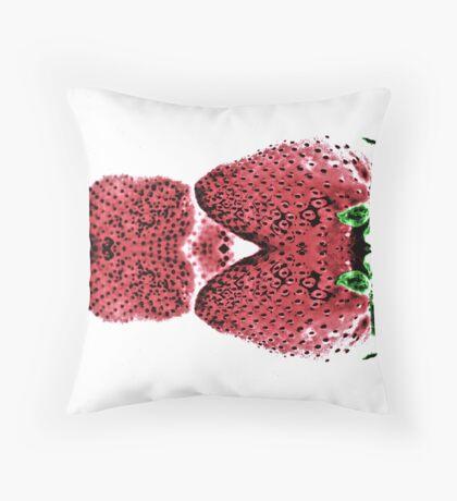 Neon  Strawberry / Fraises Neon Throw Pillow