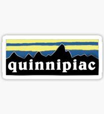 Quinnipiac mountain sticker Sticker