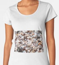Thin section of a fine grained sandstone under the microscope and in polarized light. Women's Premium T-Shirt