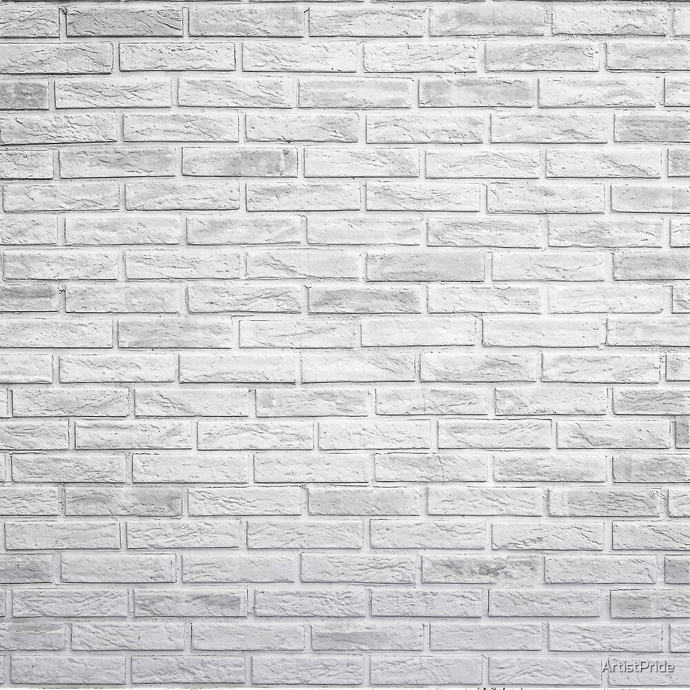 White Exposed Brick Wall  by ArtistPride