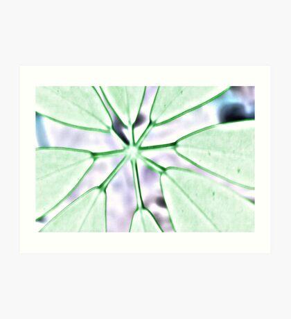 Green Neon Plant Art Print