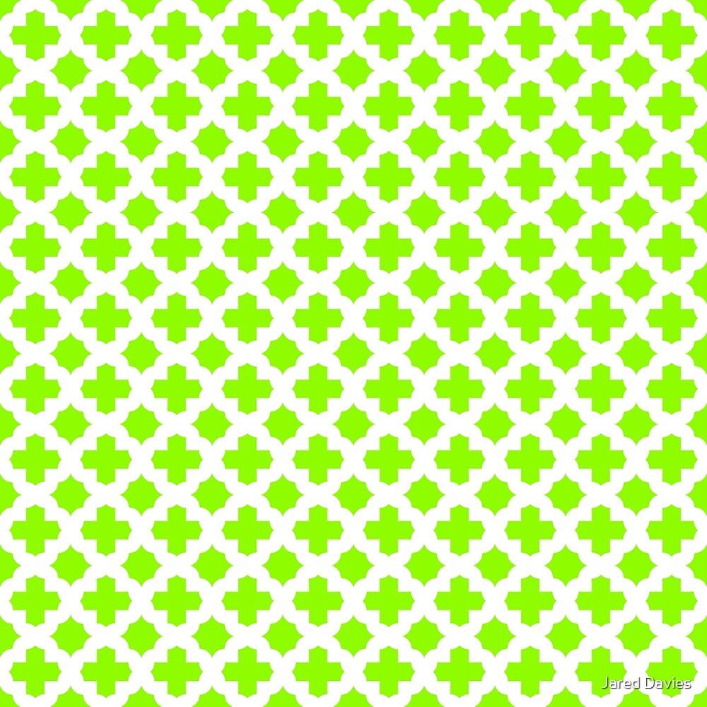 Green, Lime: Quatrefoil Stars & Crosses Patter by MilitaryCandA