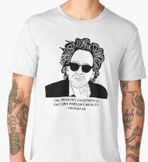 Tim Burton - Craziness quote design Men's Premium T-Shirt