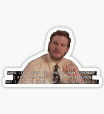 Parks & Recreation - Andy Dwyer When Life Gives You Lemons Sticker