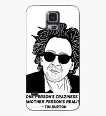Tim Burton - Craziness quote design Case/Skin for Samsung Galaxy