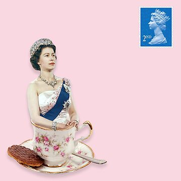Digital Collage - Queen of England in a Teacup by JAMESWOODFORD