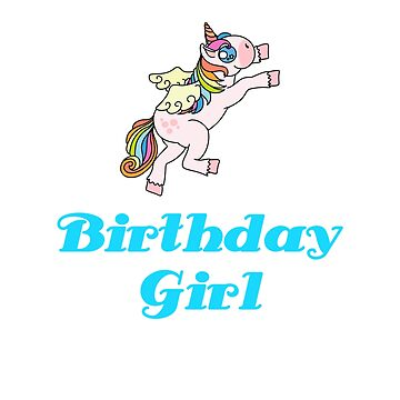 Awesome Unicorn Birthday Girl Design #12 by 198tees