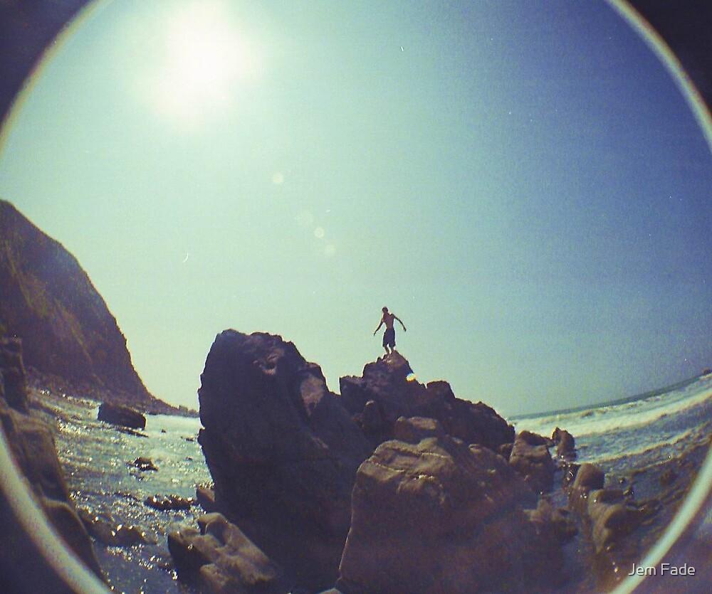 Rockclimbing lomo by Jem Fade
