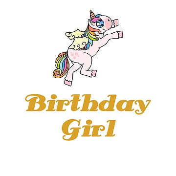Awesome Unicorn Birthday Girl Design #15 by 198tees