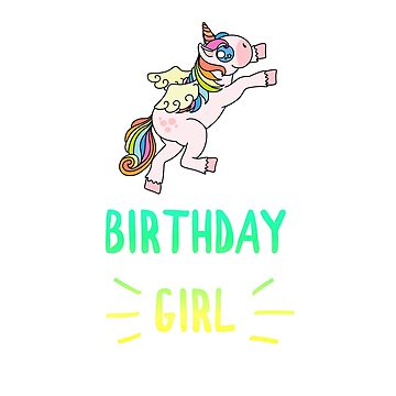 Awesome Unicorn Birthday Girl Design #16 by 198tees