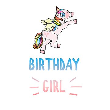 Awesome Unicorn Birthday Girl Design #17 by 198tees