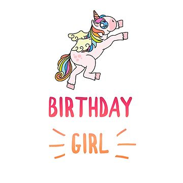 Awesome Unicorn Birthday Girl Design #18 by 198tees