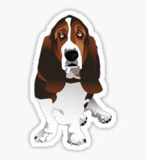 Classic Basset Hound Dog Breed Illustration Sticker