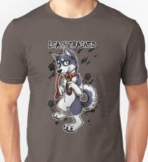 Leash Trained - Dark Blue Husky Unisex T-Shirt