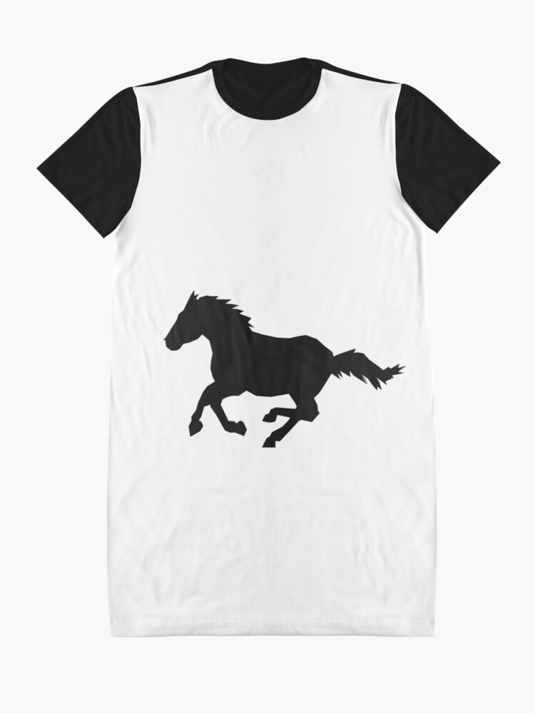 Alternate view of Horse Silhouette  Graphic T-Shirt Dress