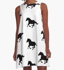 Horse Silhouette  A-Line Dress