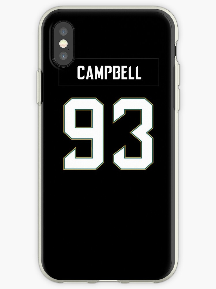 NFL Jaguars Home Jersey Campbell iPhone Case by jm95