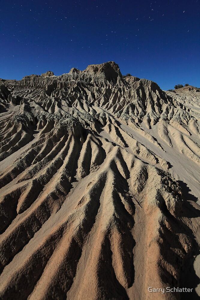 Eroded mountain by Garry Schlatter