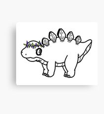 Doodle Dino Canvas Print