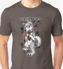 Leash Trained - Gray Husky Unisex T-Shirt