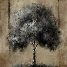 """""""More Valuable Than Silver Or Gold"""" Tree on Earthtone Background by sheepincognito"""