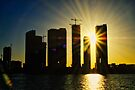 Sunset over Miami by Cathy Jones