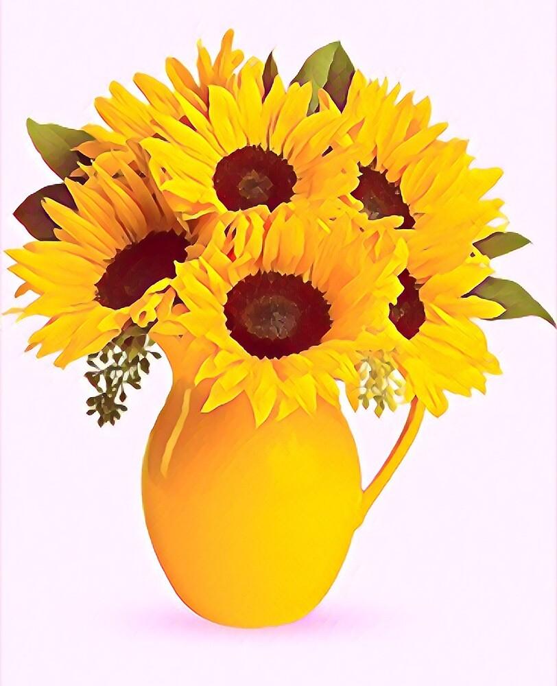 Sunflower Vase by Katbull09