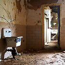A pair of sinks in the run down Henryton Hospital by thartranft