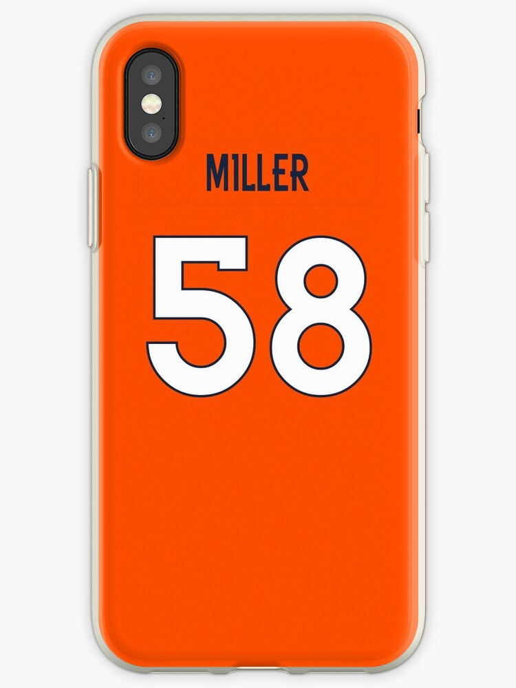 NFL Broncos Home Jersey Miller iPhone Case by jm95