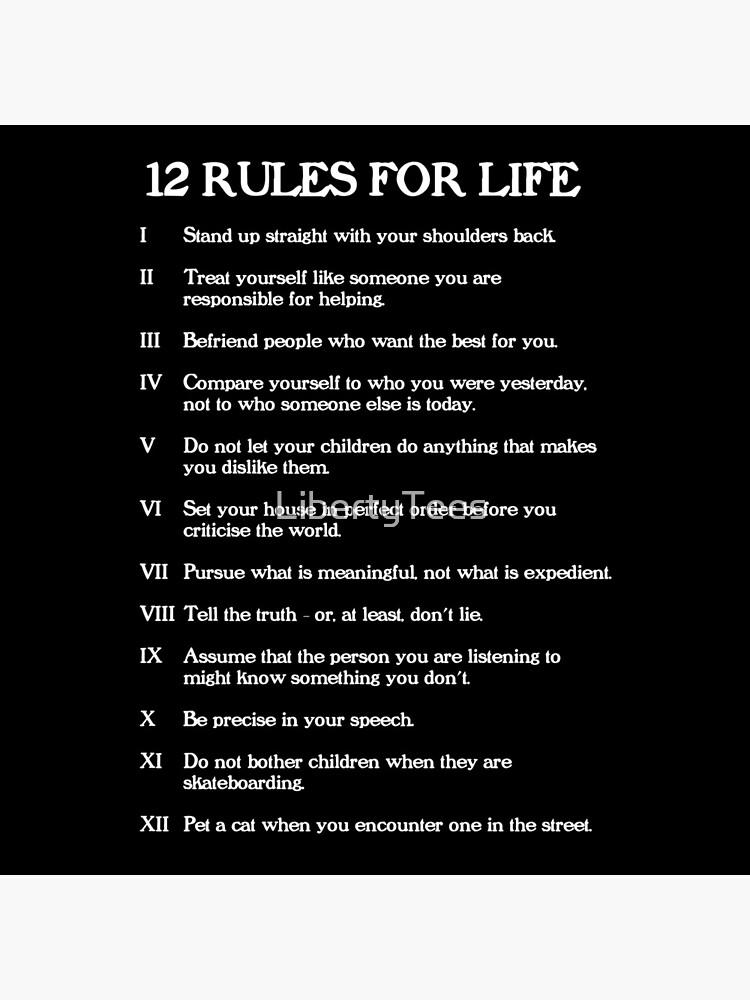 12 reglas para la vida - Jordan Peterson de LibertyTees