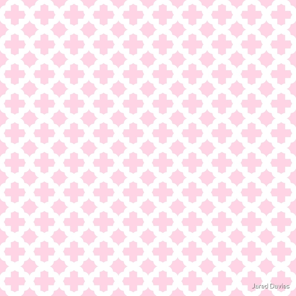 Pink, Baby: Quatrefoil Stars & Crosses Pattern by MilitaryCandA