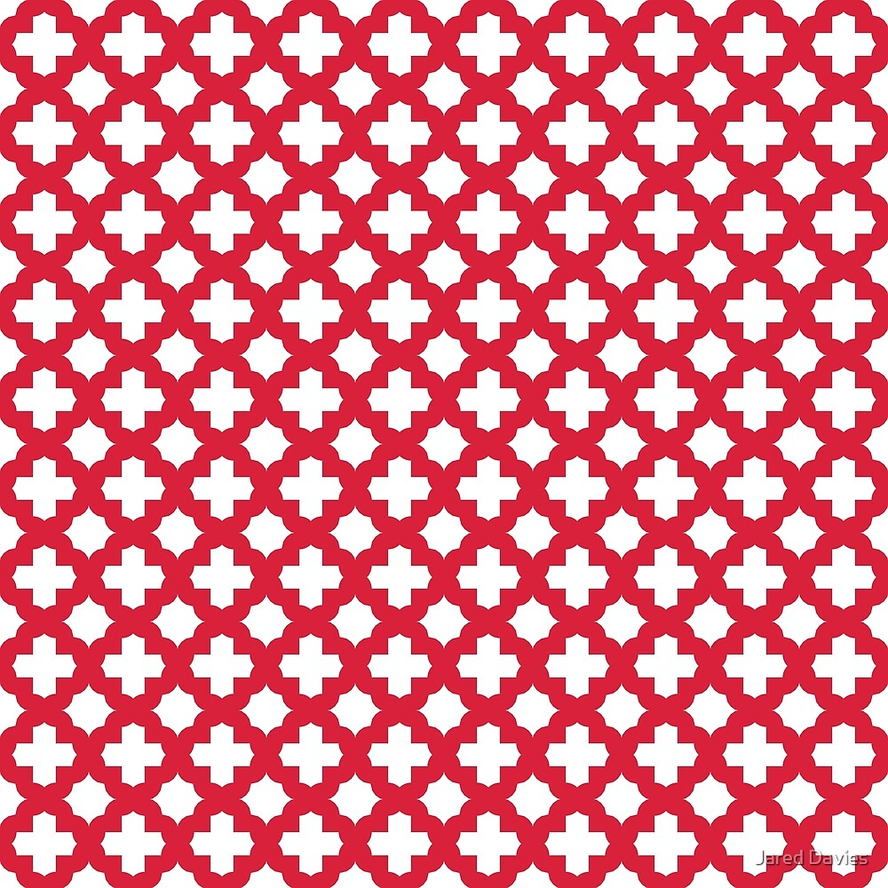 Stars & Crosses Quatrefoil Pattern: Red by MilitaryCandA