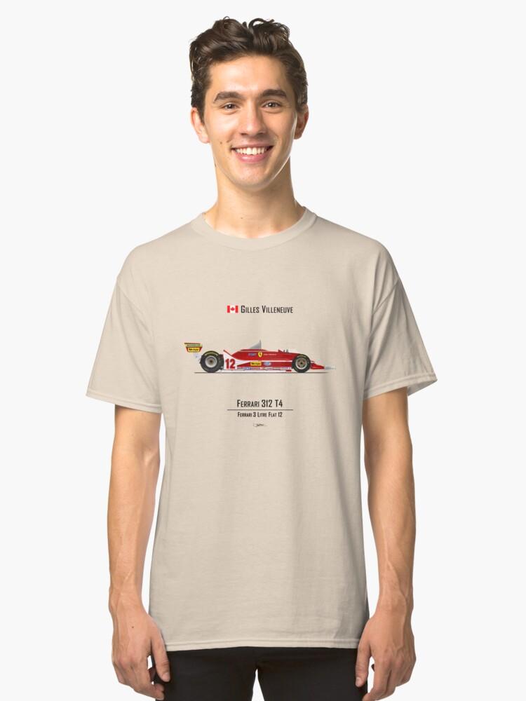 Gilles Villeneuve - Ferrari 312 T4 Classic T-Shirt Front