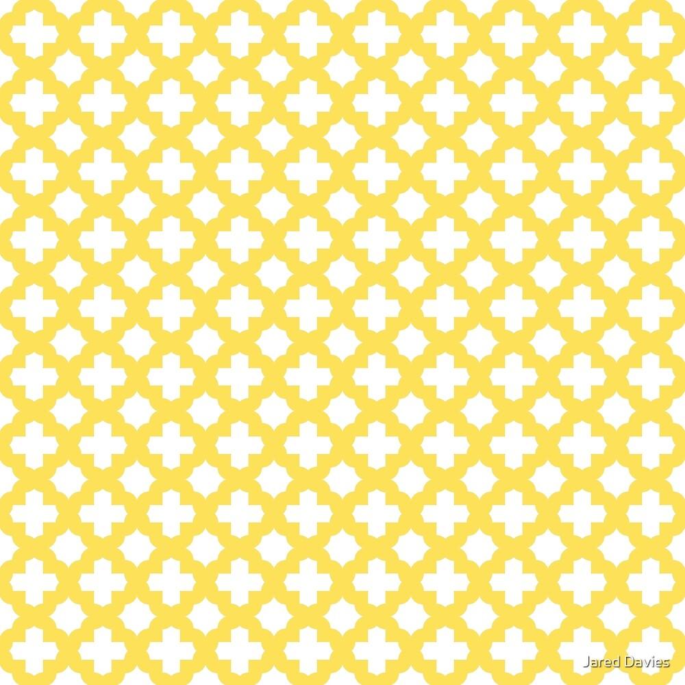 Yellow, Canary: Quatrefoil Stars & Crosses Pattern by MilitaryCandA