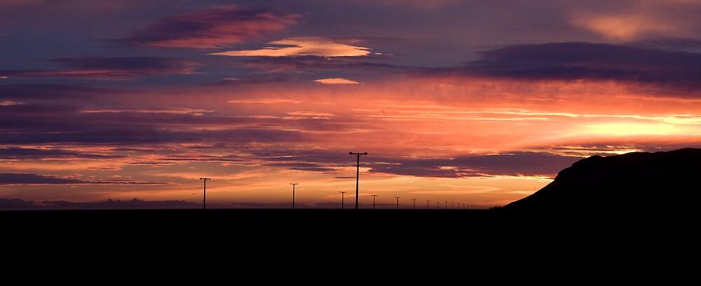 Telegraph Sunset by Phil Bain