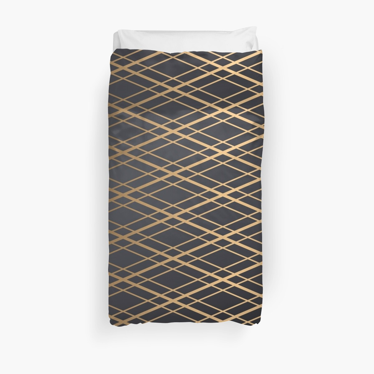 Duvet Cover Geometric Pin Striped Quilt Pattern by CreatedProto