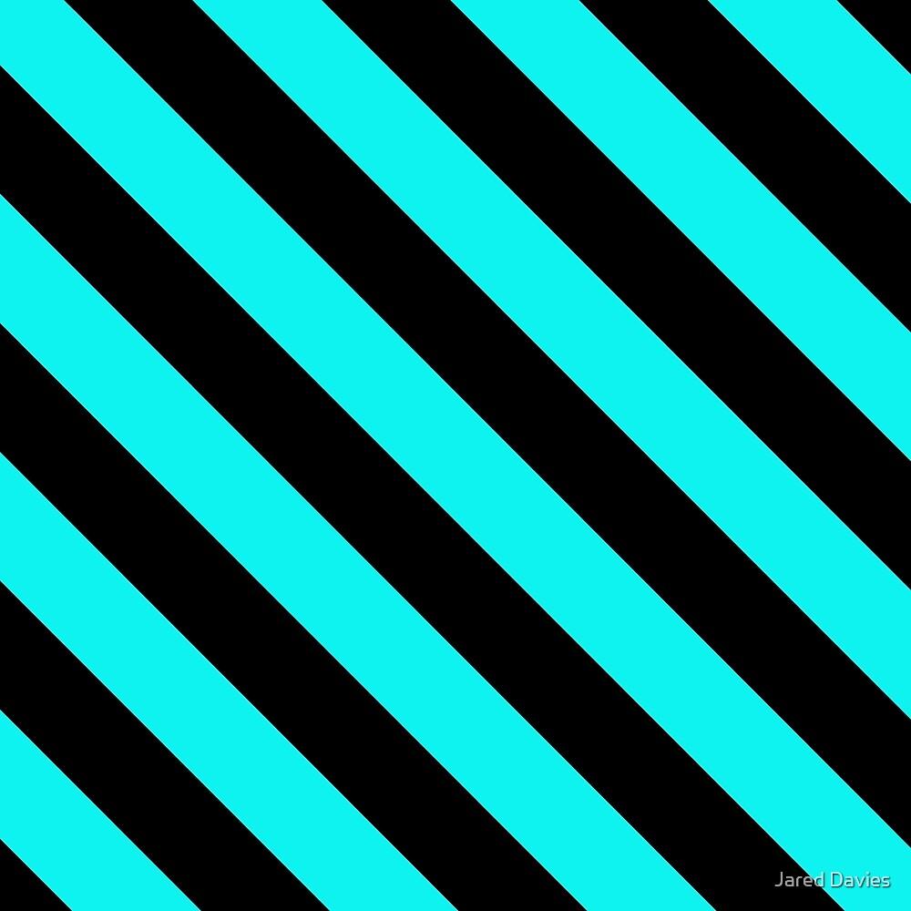 Diagonal Stripes: Black & Blue by MilitaryCandA