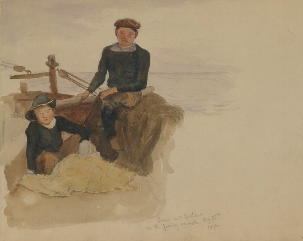 Oscar and Bobino on the Fishing Smack by John Singer Sargent by classicartcache