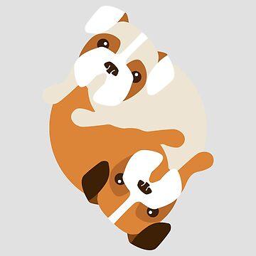 Dogs Yin Yang by aduran
