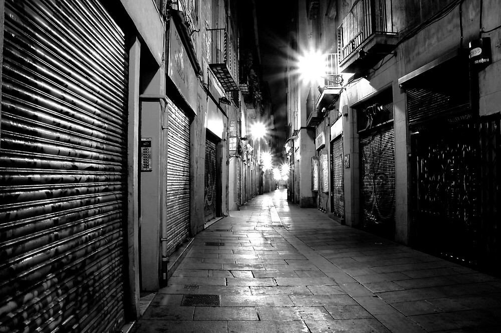 Gothic area,barcelona by Rob Blackwood