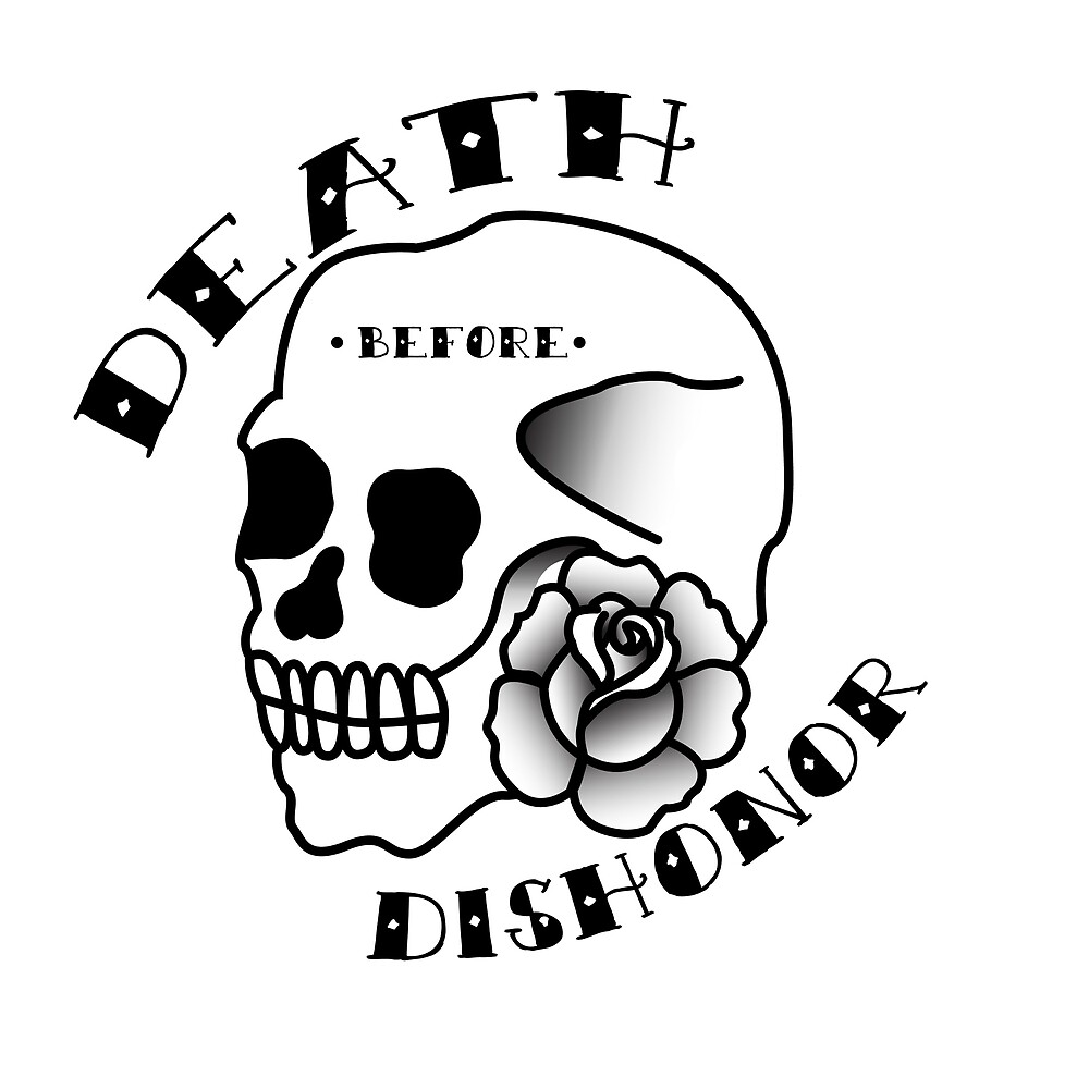 Black Skull | Death Before Dishonor by weissdocs